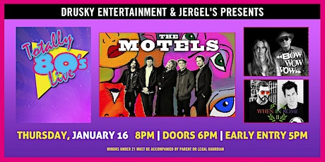 Totally 80s Live featuring The Motels with Bow Wow Wow tickets
