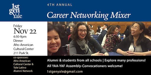 1stGenYale Alumni & Students Annual Career Networking Mixer