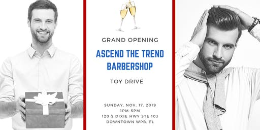 Barbershop Grand Opening & Toy Drive