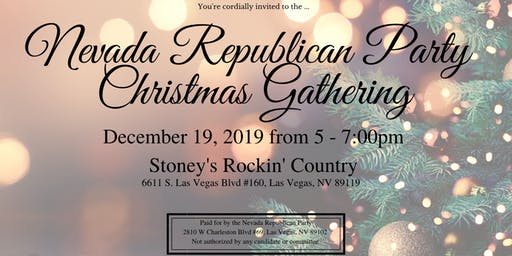 Nevada Republican Party Christmas Gathering