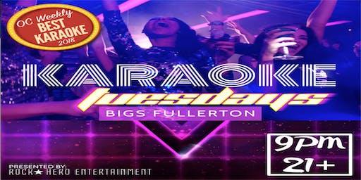 Taco Tuesday & Karaoke at Bigs Fullerton...9pm