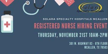Registered Nurse (RN) Hiring Event in McAllen! boletos