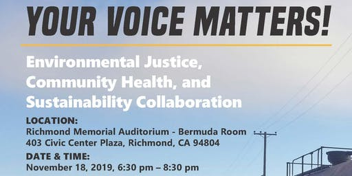 Environmental Justice, Community Health, and Sustainability Collaboration