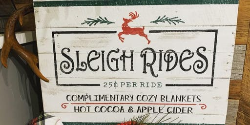Sleigh Ride Christmas Sign Workshop