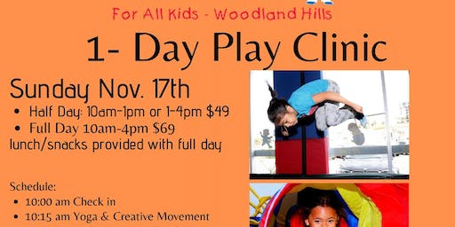 4 Spots Left- 1-Day Play Clinic