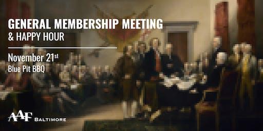 2019 AAFB Annual General Membership Meeting & Happy Hour