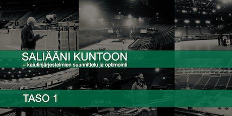 SALIÄÄNI KUNTOON – kaiutinjärjestelmien suunnittelu ja optimointi, taso 1 tickets
