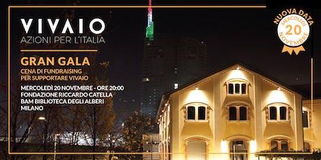 [NUOVA DATA!] GRAN GALÀ - Cena di Fundraising per supportare Vivaio Italia biglietti