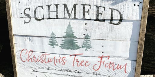 "Personalized ""Christmas Tree Farm"" Sign Workshop"