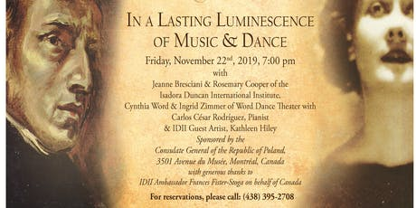 Frederic Chopin and Isadora Duncan:In Lasting Luminescence of Music & Dance tickets