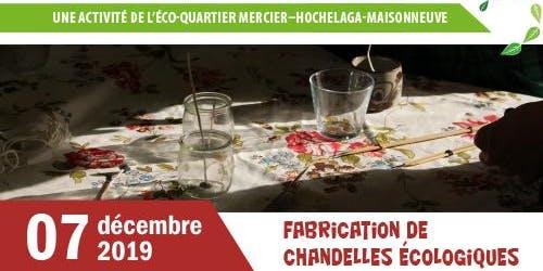 Atelier de fabrication de chandelles de Noël écologiques