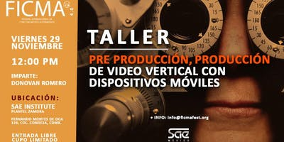 Taller preproducción, producción de video vertical con dispositivos moviles
