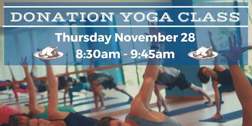 Thanksgiving Day Donation Yoga Class