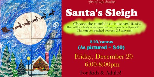 Paint Night: Santa's Sleigh