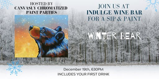Winter Bear Sip & Paint @ Indulge