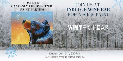 Winter Bear Sip & Paint @ Indulge