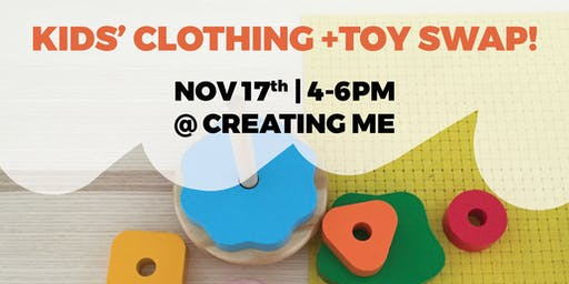 Kids Clothing+ Toy Swap and Play at Creating Me