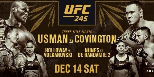 UFC 245 Usman vs Covington at Discovery Ventura