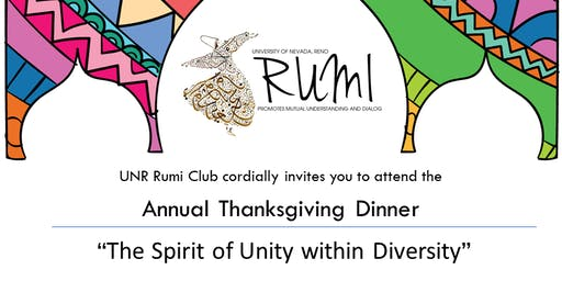 """Annual Thanksgiving Dinner """"The Spirit of Unity within Diversity"""""""