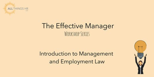 Introduction to Management and Employment Law
