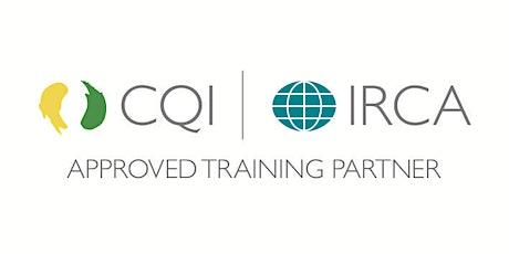 CQI & IRCA 9001:2015 Internal auditor tickets