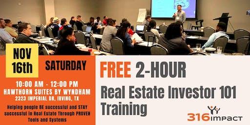 November 16th: FREE 2-Hour Real Estate Investor 101 Training