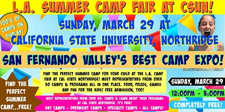 L.A. Summer Camp Fair at Cal State Northridge tickets