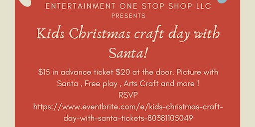 Kids Christmas craft day with Santa