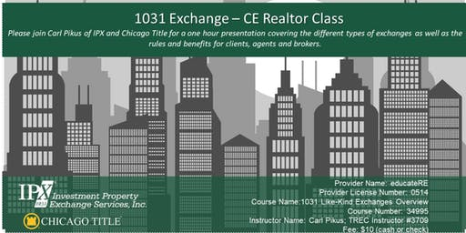 1031Exchange - REALTOR® CE Class