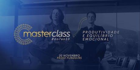 Masterclass - Produtividade e Equilíbrio Emocional tickets