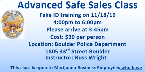 Advanced Safe Sales Class