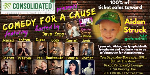 Consolidated Supply presents Comedy for a Cause for Aiden Struck
