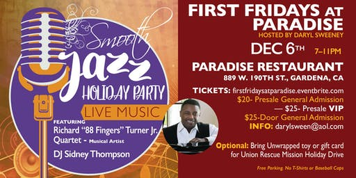 First Fridays at Paradise  -  Smooth Jazz Holiday Party