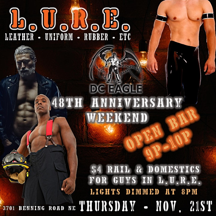 L.U.R.E. - 48th Anniversary Weekend Blackout Night & Open Bar image