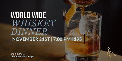World Wide Whiskey Dinner