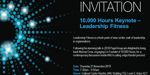 10,000 Hours Keynote - Leadership Fitness