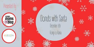 Corona Moms Blog Donuts with Santa - Corona