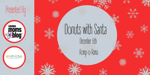Corona Moms Blog Donuts with Santa - Corona