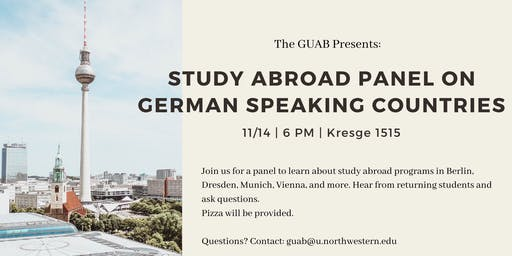 German Speaking Countries Study Abroad Panel