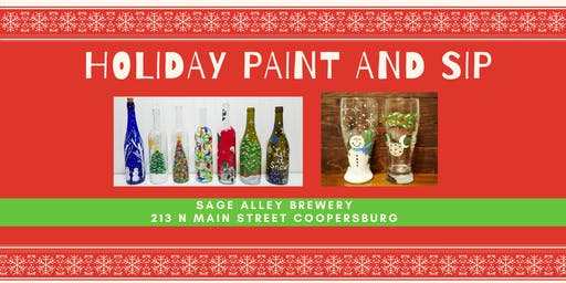 Holiday Paint and Sip at Sage Alley