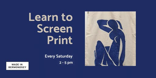 Learn to screen print - All levels welcome