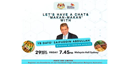 Let's Have A Chat with YB Dato' Saifuddin Abdullah