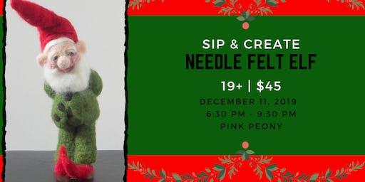 Sip & Create - Needle Felt Elf