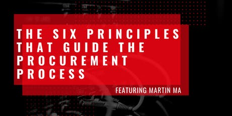 Webinar | The Six Principles that Guide the Procurement Process tickets