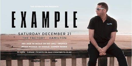 Example (UK) - The Factory Hamilton tickets
