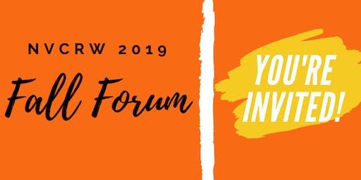 2019 NVCRW Fall Forum