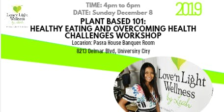 Plant Based 101: IN PERSON OR VIRTUAL ATTENDANCE!
