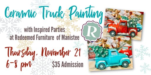 Ceramic Christmas Truck Paint Night at Redeemed!