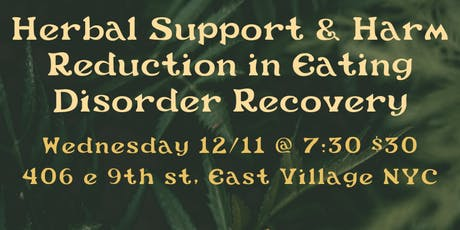 Herbal Support and Harm Reduction In Eating Disorder Recovery tickets