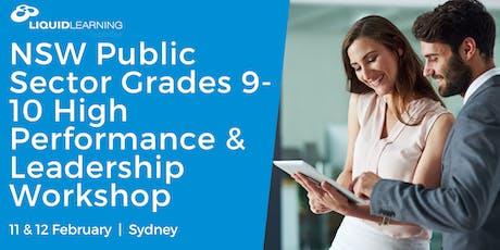 NSW Public Sector Grades 9-10 High Performance & Leadership Workshop tickets